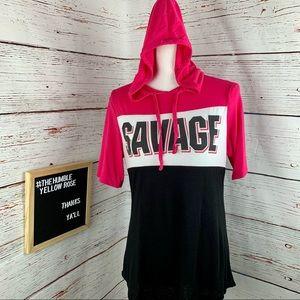 Jerry Leigh Junior Savage Short Sleeve Hoodie